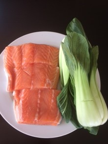 organic salmon and bok choy #omega3
