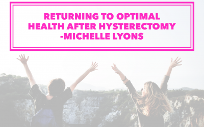 Hysterectomy: Returning to Health